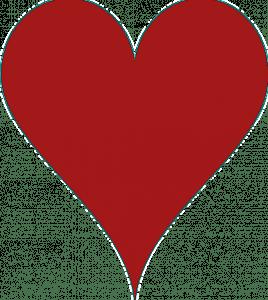 Bridge Club Hearts Card for Events